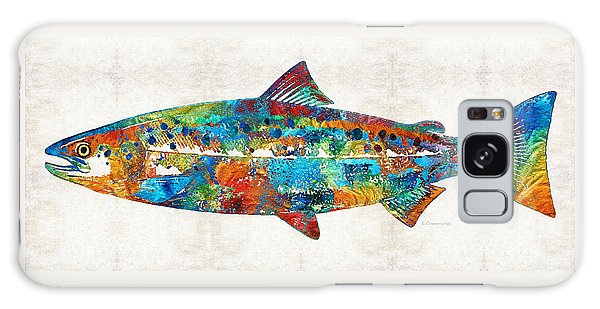 Salmon Galaxy S8 Case - Fish Art Print - Colorful Salmon - By Sharon Cummings by Sharon Cummings