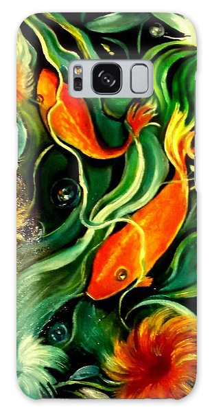 Fish Explosion Galaxy Case by Yolanda Rodriguez