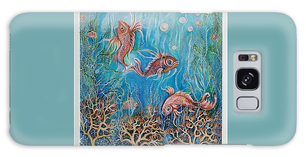 Fish In A Pond Galaxy Case by Yolanda Rodriguez