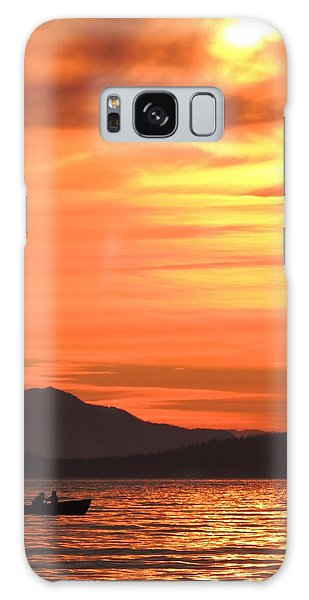Fish Into The Sunset Galaxy Case by Karen Horn