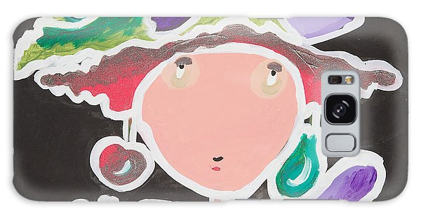 Fish On My Head Galaxy Case by Artists With Autism Inc