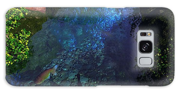 Fish Pond Galaxy Case by John Pangia