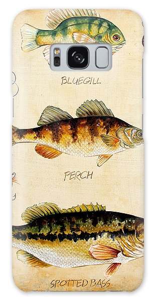 Fish Trio-c Galaxy Case by Jean Plout