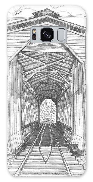 Fisher Railroad Covered Bridge Galaxy Case