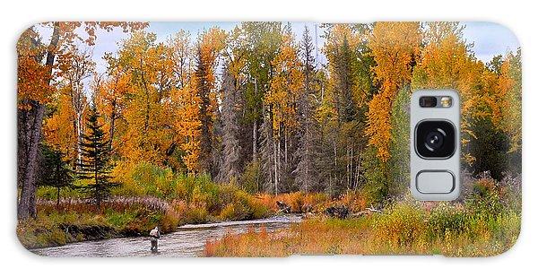Fisherman In Alaska In Autumn Galaxy Case