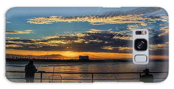 Fishermen Morning Galaxy Case by Tammy Espino