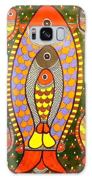 Fishes-madhubani Painting Galaxy Case