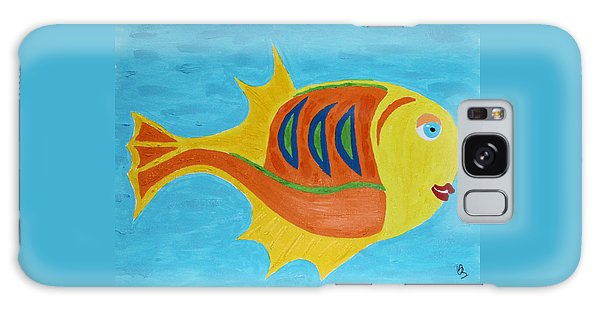 Galaxy Case featuring the mixed media Fishie by Deborah Boyd