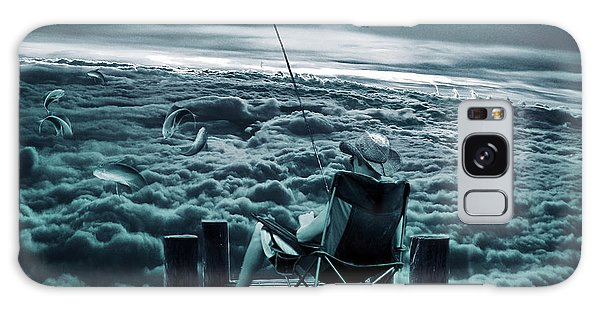 Surreal Digital Art Galaxy Case - Fishing Above The Clouds by Marian Voicu