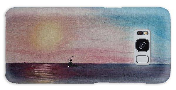Fishing Alone At Night Galaxy Case by Ian Donley