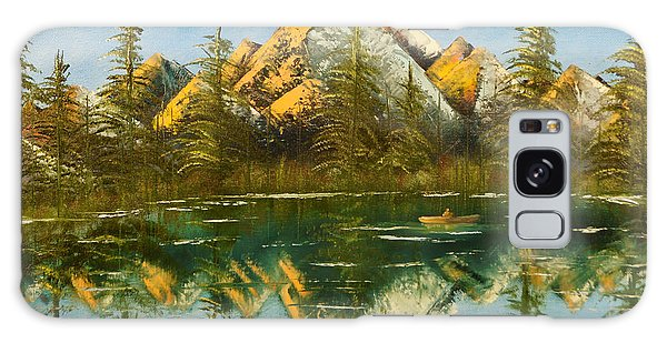 Fishing At Dusk Galaxy Case