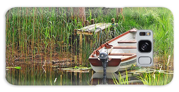 Fishing Boat Galaxy Case by Mary Carol Story