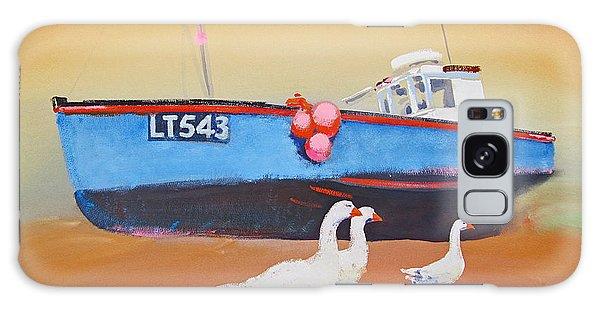 Fishing Boat Walberswick With Geese Galaxy Case
