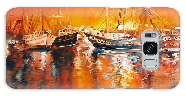 Fishing Boats At Dusk Galaxy Case