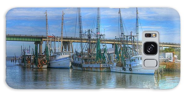 Fishing Boats At The Dock Galaxy Case by Donald Williams