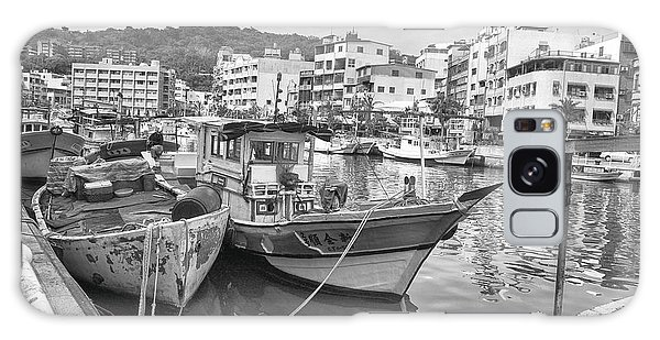 Fishing Boats B W Galaxy Case