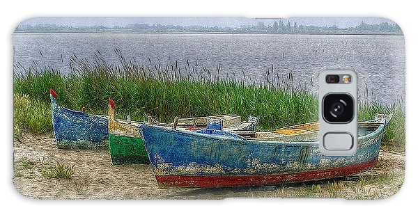 Fishing Boats Galaxy Case by Hanny Heim