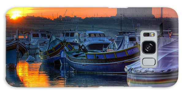 Fishing Boats In Birzebuggia Harbour Galaxy Case