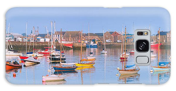 Fishing Boats In The Howth Marina Galaxy Case by Semmick Photo
