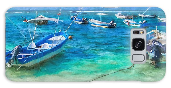 Fishing Boats Galaxy Case by Peggy Hughes