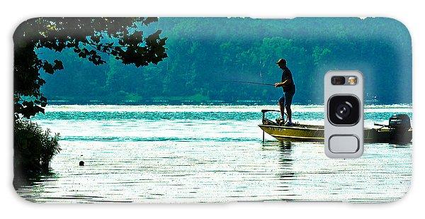 Fishing Crab Orchard Lake Galaxy Case by Jeff Kurtz