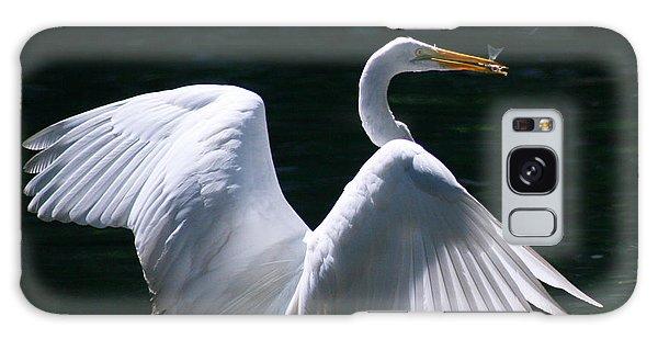 Fishing Egret Galaxy Case