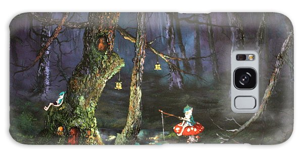 Fishing For Supper On Cannock Chase Galaxy Case by Jean Walker