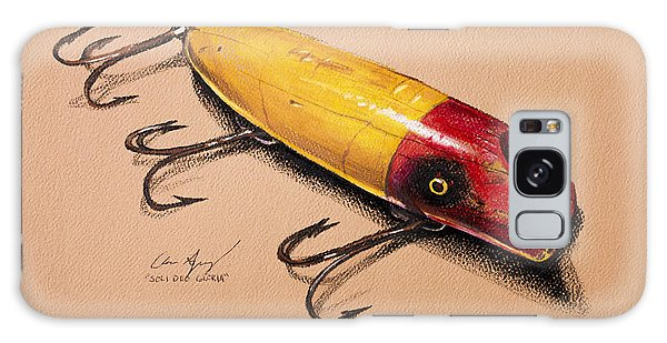 Galaxy Case featuring the painting Fishing Lure by Aaron Spong