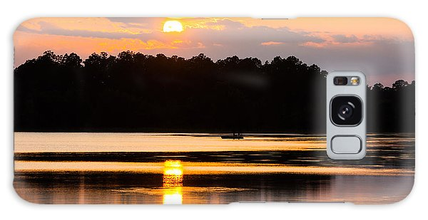 Fishing On Golden Waters Galaxy Case
