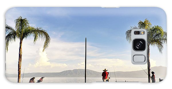 Fishing On Lake Chapala Galaxy Case by David Perry Lawrence