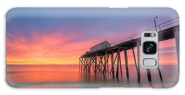 Fishing Pier Sunrise Galaxy Case