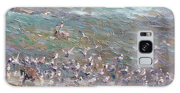 Seagulls Galaxy Case - Fishing Time by Ylli Haruni