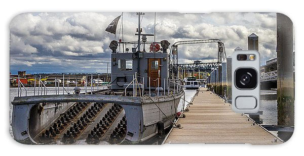 Fishing Vessel Tied Up At The Pier Galaxy Case by Rob Green