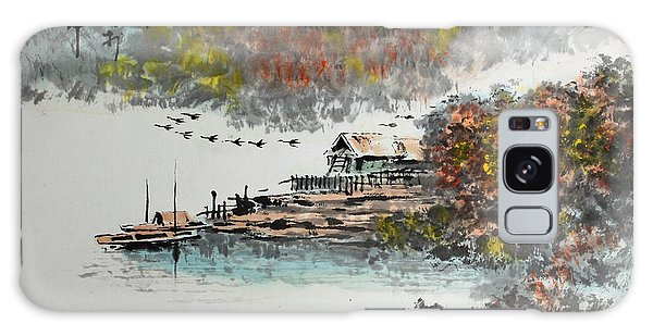 Fishing Village In Autumn Galaxy Case