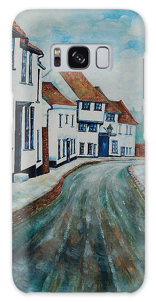 Fishpool Street - St Albans - Winter Scene Galaxy Case by Giovanni Caputo