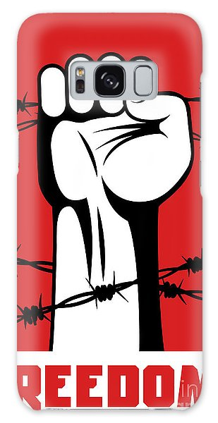 Cause Galaxy Case - Fist Up Power. Hand Breaks Barbed Wire by Sebos