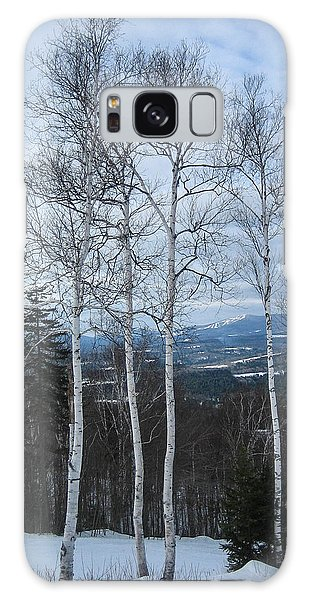 Five Birch Trees Galaxy Case