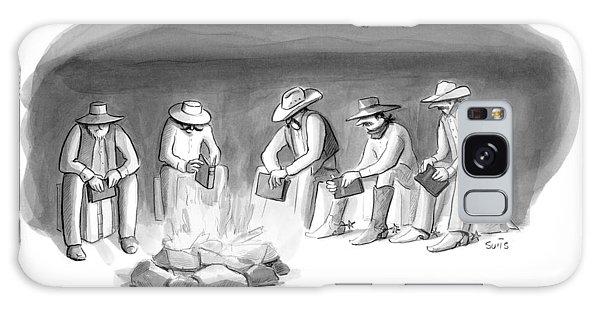 Five Cowboys Sit Around A Campfire. Each Cowboy Galaxy S8 Case