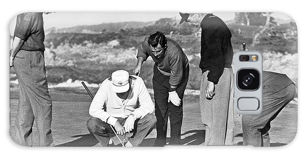 Patient Galaxy Case - Five Golfers Looking At A Ball by Underwood Archives