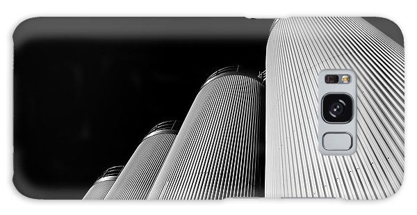 Five Silos In Black And White Galaxy Case