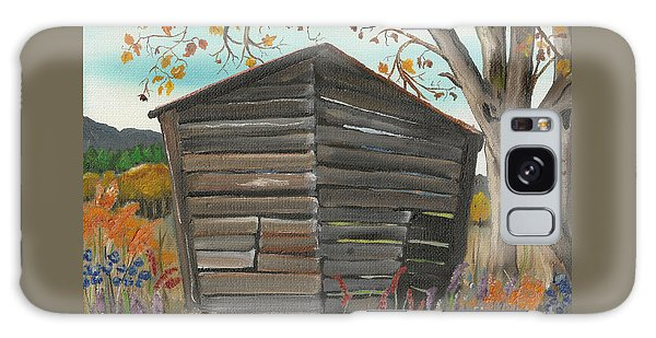 Autumn - Shack - Woodshed Galaxy Case by Jan Dappen