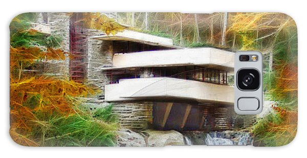 Fixer Upper - Square Version - Frank Lloyd Wright's Fallingwater Galaxy Case