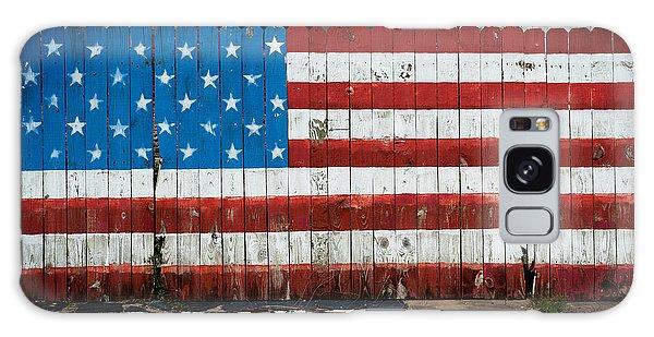 Flag Fence Galaxy Case by Bud Simpson