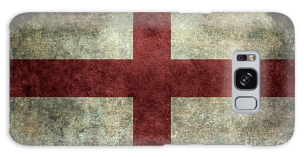 Flag Of England St Georges Cross Vintage Version To Scale Galaxy Case