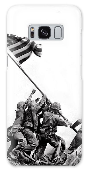 Two People Galaxy Case - Flag Raising At Iwo Jima by Underwood Archives