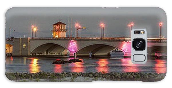 Flagler Galaxy Case - Flagler Bridge In Pink by Debra and Dave Vanderlaan