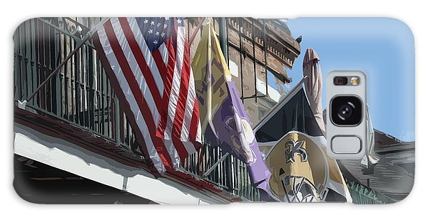 Flags On Bourbon Street Galaxy Case