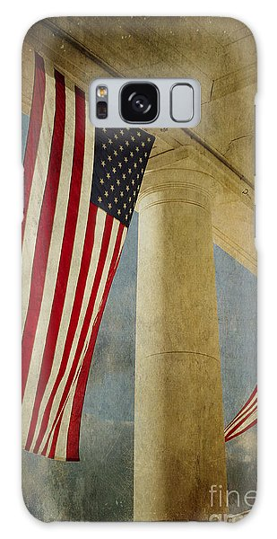 Flags Over Arlington Galaxy Case by Terry Rowe