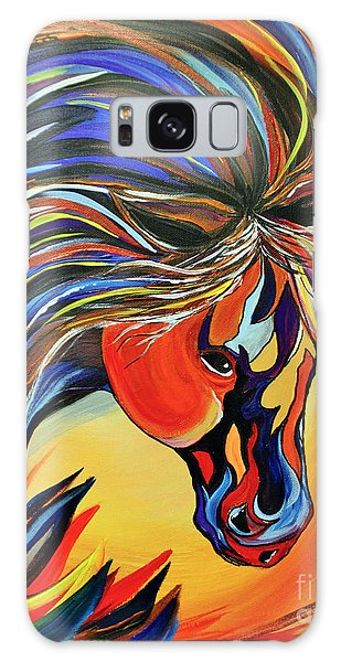 Flame Bold And Colorful War Horse Galaxy Case