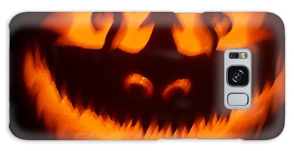 Flame Pumpkin Galaxy Case